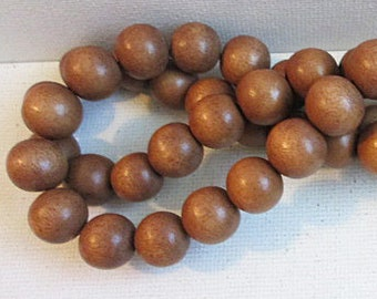 30mm 16mm x 12 in Espresso Brown with Satiny Soft Surface SO Gorgeous! 1 Strand Vintage Funky Wooden Beads 1 14 in