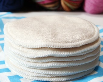 Reusable Cloth Nursing Pad Sets -Absorbent Bamboo/Organic Cotton Terry with water resistant fleece