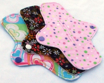 10 Reusable Washable cloth pantyliners or thong liners MADE TO ORDER in your choice of fabrics
