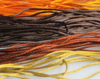 Lot of 43  Yards of Assorted colors of  2 mm Satin Cord,  15% Diiscount