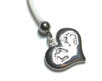 TWINS Flexible Pregnancy Belly Button Ring