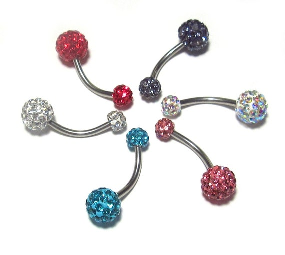 Custom Length Metallic Coated Steel 14 to 1 Length Belly Button Ring