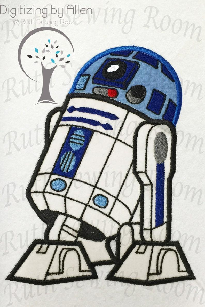 2fdc5e3606bbc Star Wars R2D2 Applique Applique Embroidery Design This is