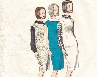 "Vintage Sewing Pattern Vogue 1355 Basic Jumper Dress Size 16 36"" Bust - Free Pattern Grading E-book Included"