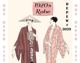 Mrs depew vintage by mrsdepew on etsy vintage sewing pattern instructions 1920s flapper easy kimono robes ebook pdf depew 3039 paper version fandeluxe Images