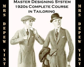 Mrs depew vintage by mrsdepew on etsy 1920s master designers system of cutting mens tailoring pattern drafting e book instant download 2500 free shipping fandeluxe Images