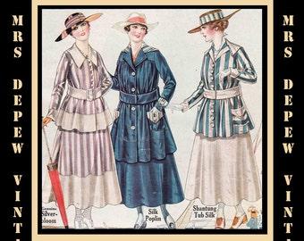 Vintage Fashion Catalog 1916 American Standard Mail Order Company Post-Edwardian Ebook -INSTANT DOWNLOAD-