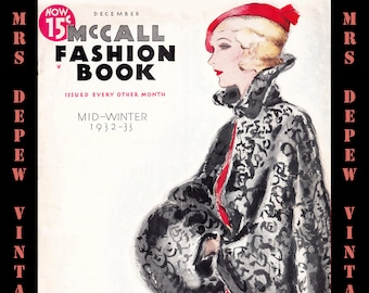 ee1363d40b Vintage Sewing Pattern Catalog McCall Fashion Book Winter 1932 PDF Digital  Copy -INSTANT DOWNLOAD-