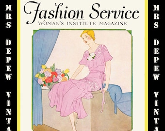 1930's Vintage Fashion Service Magazine Spring, 1930 Fashion & Sewing Patterns - INSTANT DOWNLOAD