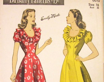 Mrs depew vintage by mrsdepew on etsy vintage sewing pattern 1940s princess seam dress dubarry 6070 34 bust ff free pattern grading e book included fandeluxe Images