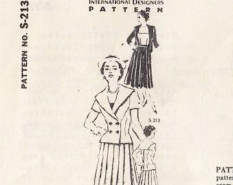 "Vintage Sewing Pattern Ladies 1960's Dress Spadea S-213 35"" Bust - Free Pattern Grading E-book Included"