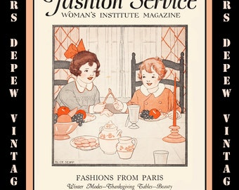 Mrs depew vintage by mrsdepew on etsy vintage sewing magazine november 1928 fashion service dressmaking sewing and fashion ebook instant download fandeluxe Images