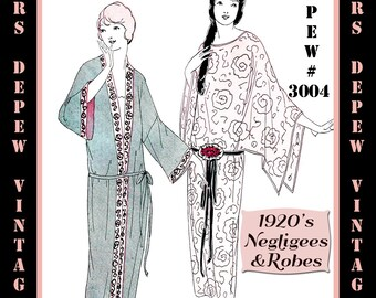 Mrs depew vintage by mrsdepew on etsy vintage sewing pattern instructions 1920s flapper basic neglige robes ebook pdf depew 3004 instant download fandeluxe Images