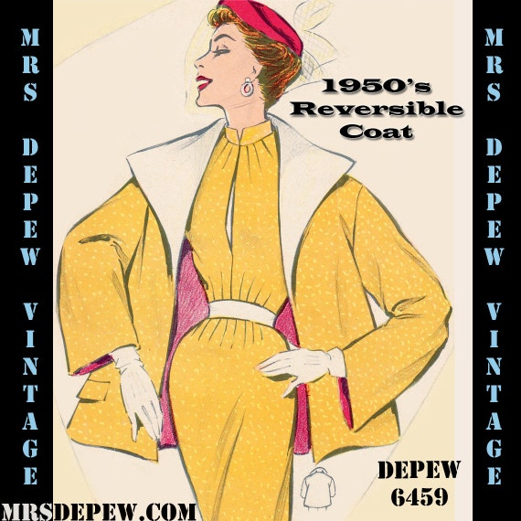 1950s Sewing Patterns | Swing and Wiggle Dresses, Skirts 1950s Jacket $8.50 AT vintagedancer.com