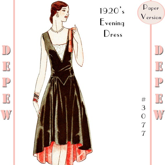 1920s Patterns – Vintage, Reproduction Sewing Patterns 1920s Robe de Style Drecoll Couture Dress #3077 - PAPER VERSION $21.00 AT vintagedancer.com