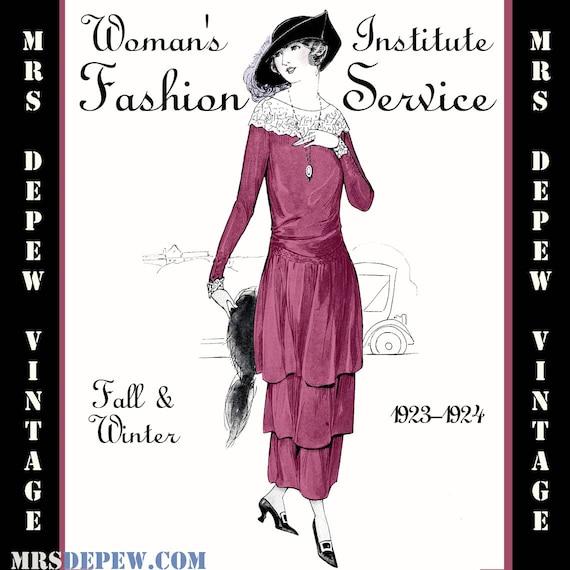 Costura Vintage libro otoño invierno de 1923-24 servicio | Etsy