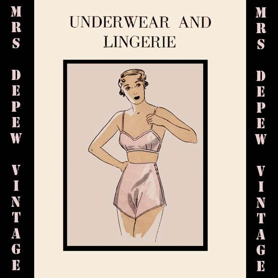 Retro Lingerie, Vintage Lingerie, 1940s-1970s  1930s Underwear and Lingerie Ebook Parts 1 and 2 Huge How To INSTANT DOWNLOAD $10.00 AT vintagedancer.com