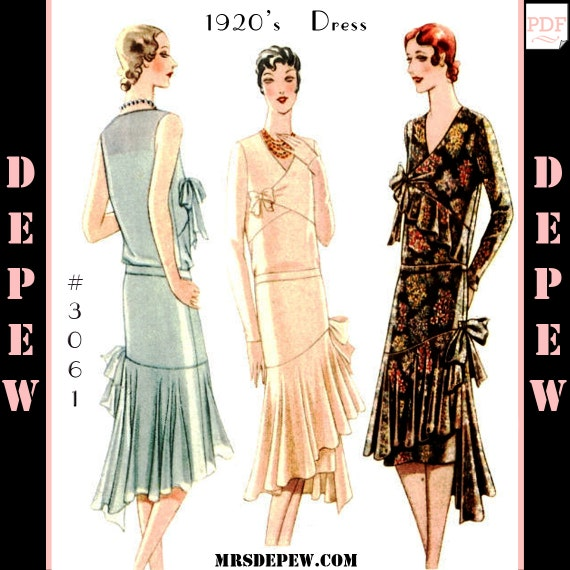 Vintage Sewing Pattern Reproduction Ladies\' 1920s Maggy | Etsy