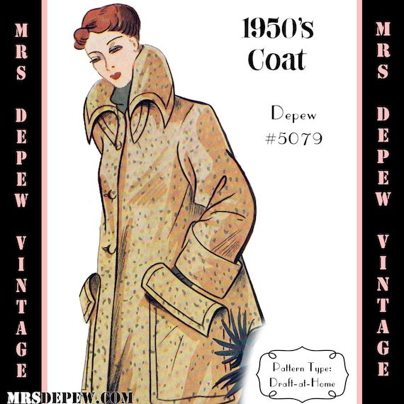 1950s Sewing Patterns | Dresses, Skirts, Tops, Mens  1950s Box Coat  $7.50 AT vintagedancer.com
