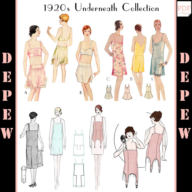 97a9897c454 Vintage Sewing Patterns The Underneath Collection 1920s Bra