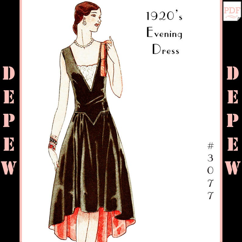 1920s Patterns – Vintage, Reproduction Sewing Patterns v $8.00 AT vintagedancer.com
