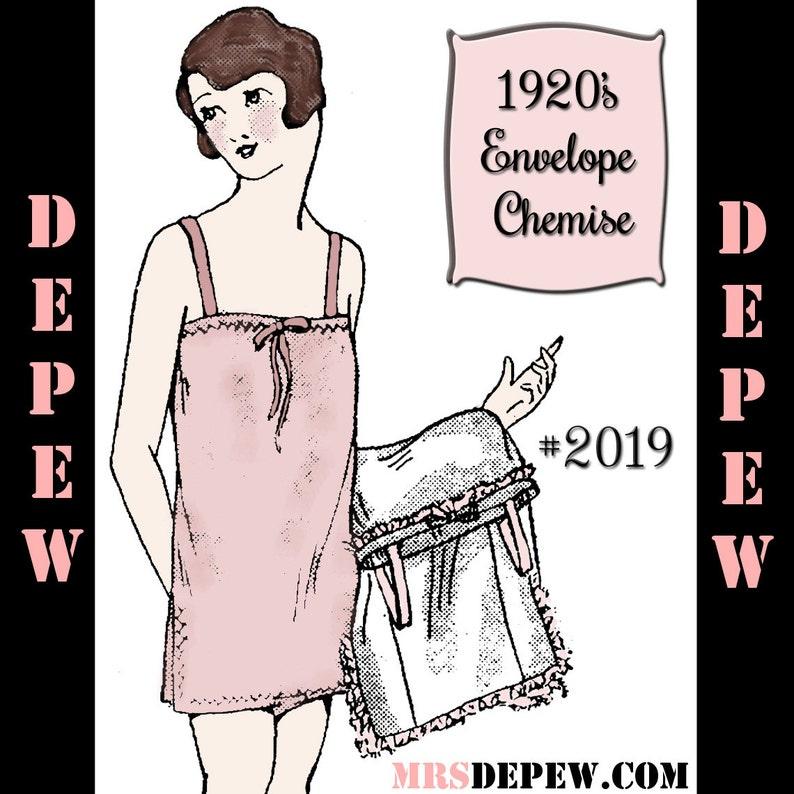 1920s Patterns – Vintage, Reproduction Sewing Patterns Vintage Sewing Pattern 1920s Flapper Slip and Envelope Chemise 2019 $4.00 AT vintagedancer.com