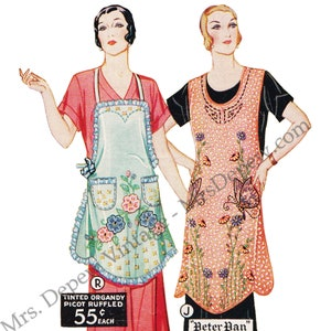 Vintage Aprons, Retro Aprons, Old Fashioned Aprons & Patterns Vintage Womans Institute Sewing Pattern Book 1920s Fancy Aprons and Sunbonnets E-book -INSTANT DOWNLOAD- $11.00 AT vintagedancer.com