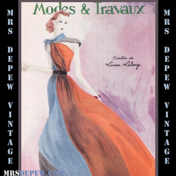 Vintage French Fashion Magazine Modes Et Travaux April