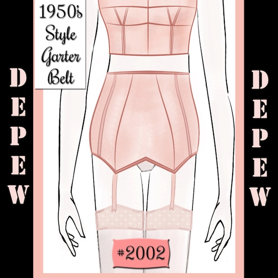8a05e5291bc Vintage Sewing Pattern French 1950s Pin Up Corset Garter Belt