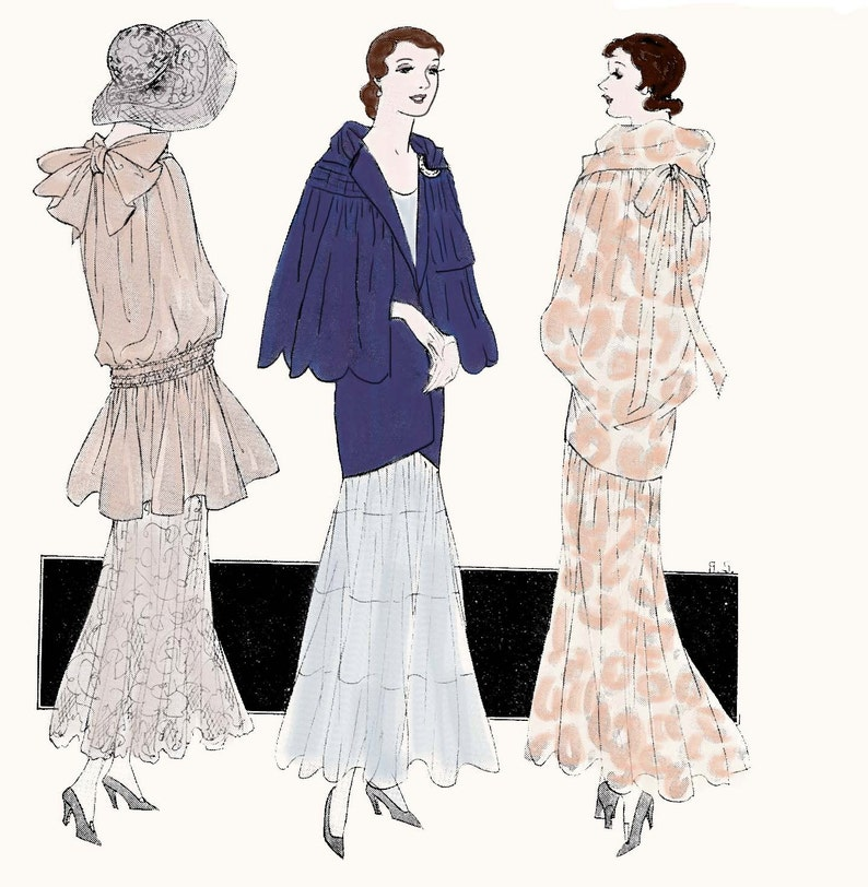 Vintage Sewing Pattern 1930s Evening Wraps Or Capes 3033
