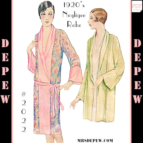 Vintage Sewing Pattern Reproduction 1920\'s Kimono Negligee | Etsy