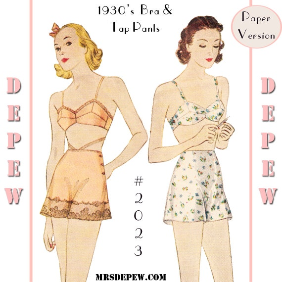 1930s Fashion Colors & Fabric 1930s Bra and Tap Pants #2023 - PAPER VERSION $16.50 AT vintagedancer.com