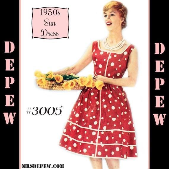 Alte Schnittmuster 50er Damen Französisch Sun Kleid zu Hause | Etsy