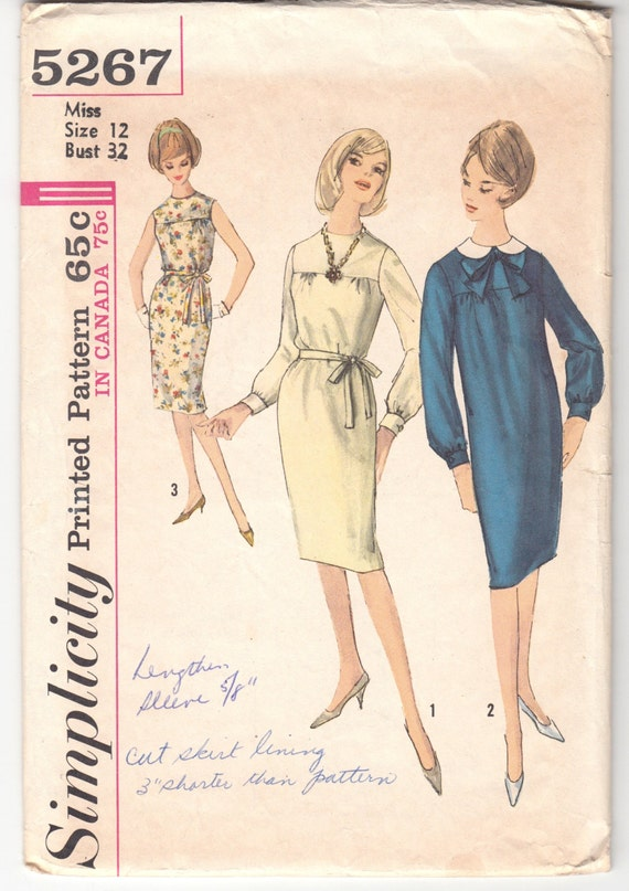 Vintage Sewing Pattern Ladies\' Dress Simplicity 5267 | Etsy