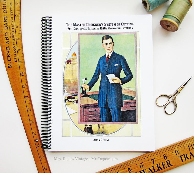 Men's Vintage Reproduction Sewing Patterns 1920s Master Designers System of Cutting Menswear Tailoring Pattern Drafting Printed Book $46.00 AT vintagedancer.com