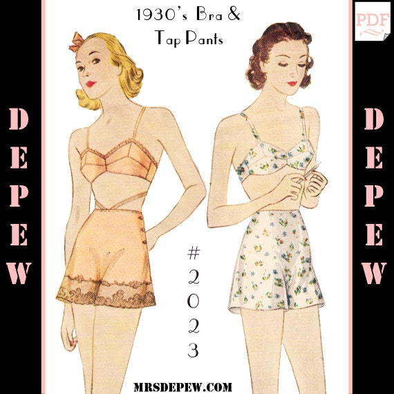 1930s Fashion Colors & Fabric 1930s Bra and Tap Pants #2023 - INSTANT DOWNLOAD $9.50 AT vintagedancer.com