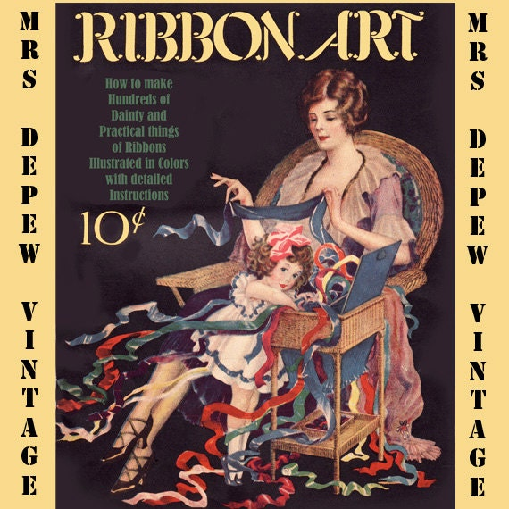 Vintage sewing book 1920s ribbon art ebook how to for rosettes vintage sewing book 1920s ribbon art ebook how to for rosettes millinery lingerie etc instant download from mrsdepew on etsy studio fandeluxe Gallery