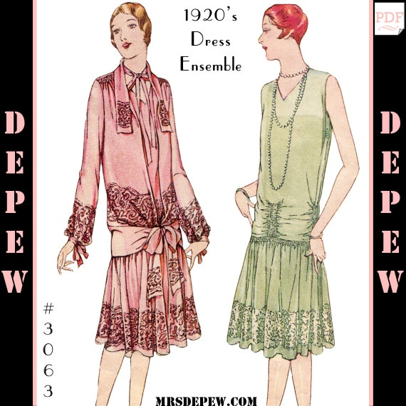 Vintage Sewing Pattern Reproduction Ladies\' 1920s Martial | Etsy