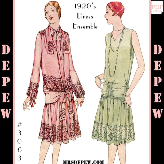 Vintage Sewing Pattern Reproduction Ladies 1920s Martial Etsy