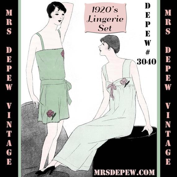 Vintage costura a patrón instrucciones 1920 aleta Teddy | Etsy