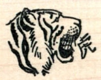 Year of the Tiger Rubber Stamp, Chinese New Year, Zodiac D32404 Wood Mounted