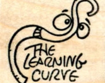 The Learning Curve Rubber Stamp, Education Series D33111 Wood Mounted