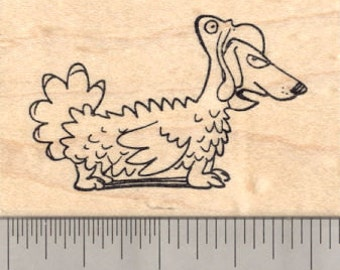 Thanksgiving Dachshund Dog Rubber Stamp, in Turkey Costume H22707 Wood Mounted