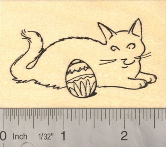 Cat Rubber Stamp Line of Cats Feline Line K18610 WM