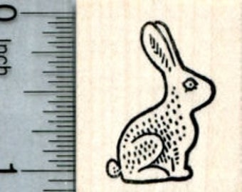 Small Chocolate Easter Bunny Rubber Stamp D32119 Wood Mounted