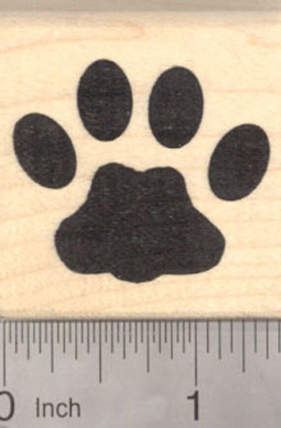 Tasmanian Tiger Rubber Stamp  H13205 Wood Mounted Thylacine