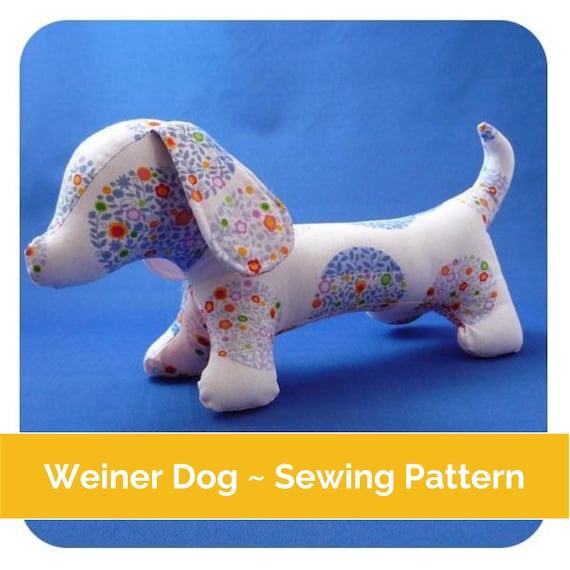 Weiner Dog Sewing pattern PDF dachshund pattern sausage | Etsy