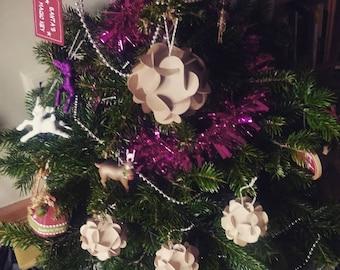 Zero waste alternative Christmas baubles decorations