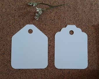 Large size compact colour plain card price hang gift tags