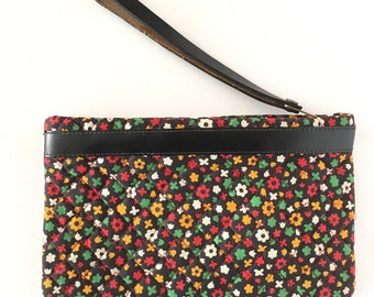 Vintage 1960s Quilted Floral Clutch